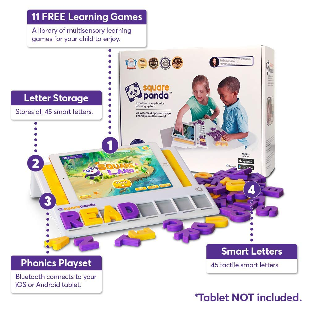 Square Panda Phonics Multisensory Sight, Touch, and Sound Playset for Kids Learning to Read - Home Edition by Square Panda Inc. (Image #2)