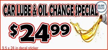 Oil Change Special >> Amazon Com Car Lube Oil Change Special Decal Sticker Business