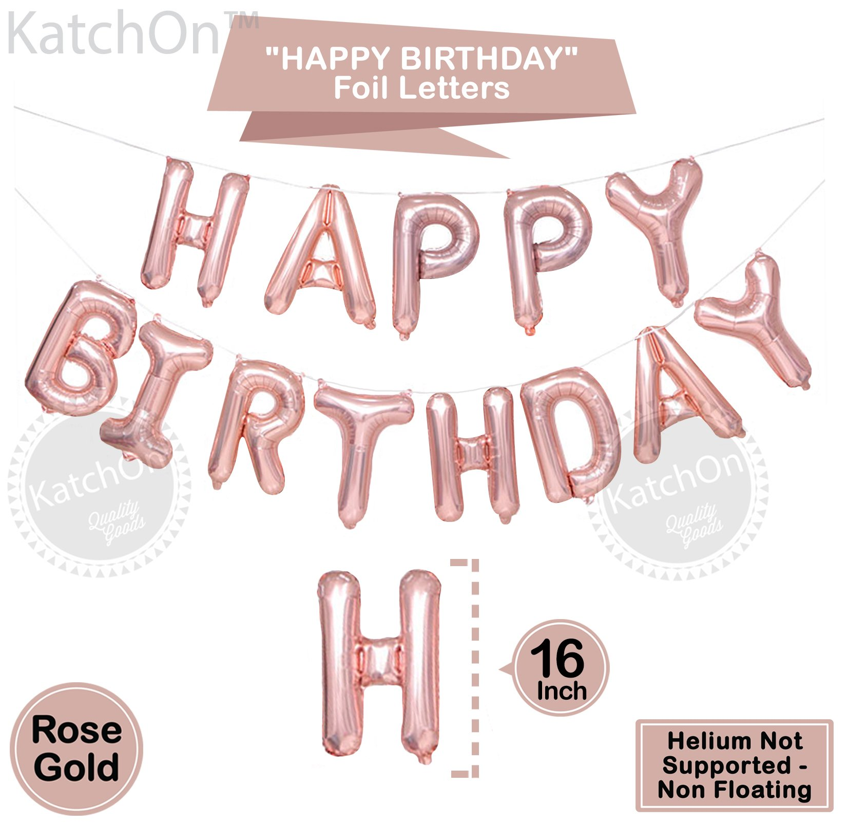 30th Birthday Decorations Rose Gold 30 And Happy Balloons Banner Great For Party Supplies
