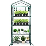 """TOOCA Mini Greenhouse 4-Tier 27"""" X 19"""" X 63"""" Portable Plant Greenhouse for Indoor Outdoor Gardens/Patios/Backyards, Suitable for Seed Starter, Young Plants"""