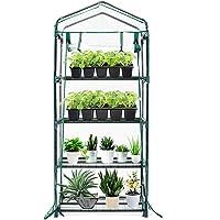TOOCA Mini Greenhouse 4-Tier 27″ X 19″ X 63″ Portable Plant Greenhouse for Indoor Outdoor Gardens/Patios/Backyards