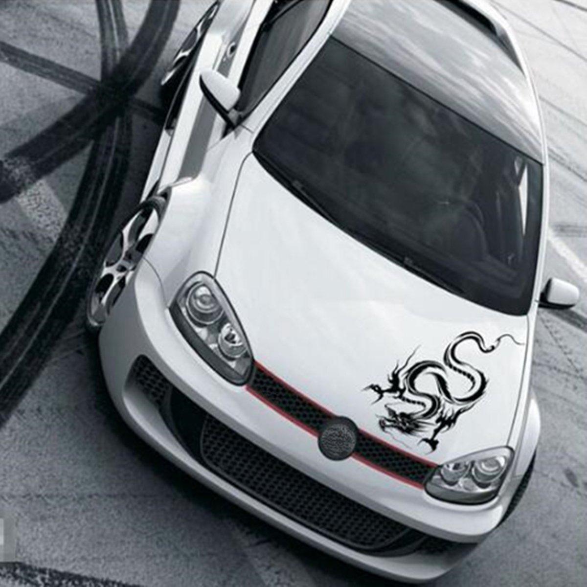 R/éfl/échissant Totem Dragon Gratter Stickers Autocollants de voiture Full Body Car T/ête Styling Autocollant