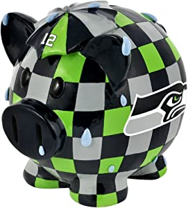 FOCO NFL Seattle Seahawks Resin Small Thematic Piggy Bank