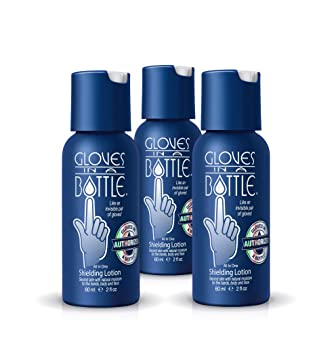 0cfa1ab44f2f Gloves in a Bottle Shielding Lotion Great for Dry Itchy Skin, Grease-Less  and Fragrance Free, 2...
