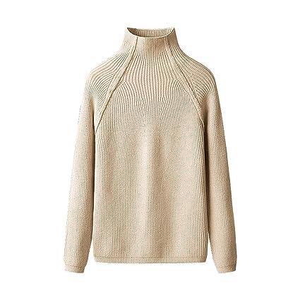 Blusa de punto otoño invierno suéter delgado de las mujeres (Color : D , Tamaño