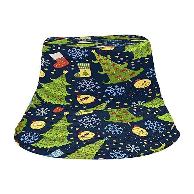 Image Unavailable. Image not available for. Color  INTERESTPRINT Christmas  Tree Fashion Design Bucket Hat for Men Women cd1833a2c5cf