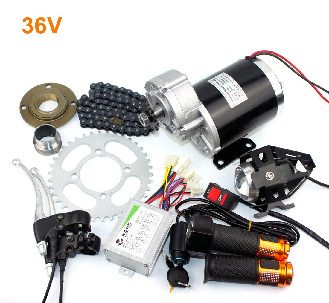 24v36v48v 450ワット電気rickshaエンジンキット3輪自転車電気モーターキットdiy電動輪タクブラシ付きdcモータでギアボックス  36V upgrade kit B07CRB8XFN