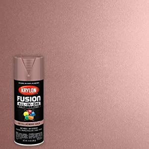 Krylon K02700007 Fusion All-in-One Metallic Spray Paint, Rose Gold