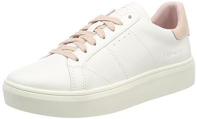 Damen Sandrine Lace up Sneaker, Weiß (White 100), 41 EU Esprit