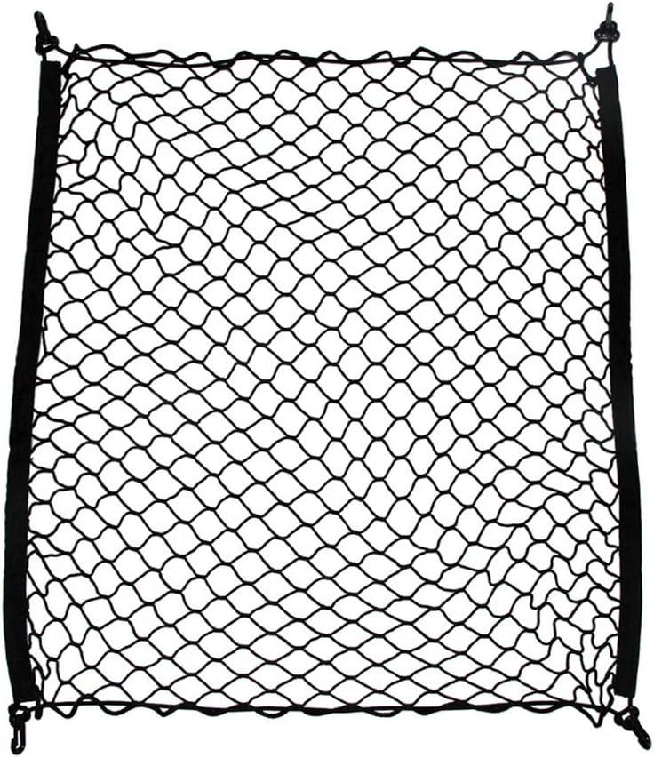LIOOBO Organisateur de Cargaison de Maille de Filet de Stockage de Cargaison /élastique pour Coffre de Voiture Automatique Noir