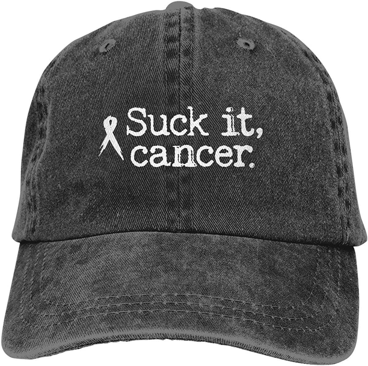 PMGM-C Suck It Cancer Unisex Trendy Jeans Outdoor Sports Hat Adjustable Baseball Cap