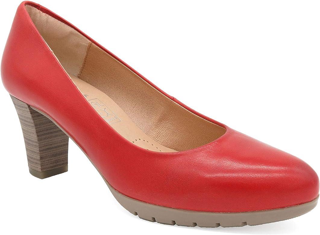 Desireé Hecho en España - Zapatos de tacón para Mujer Cuero Rojo EUR-36 - Zapatos de salón
