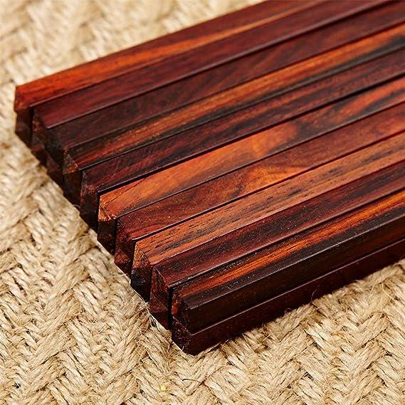 CQSMOO Palillos Conjunto de Palillos de Madera del Restaurante japonés Chino 10 Pares by: Amazon.es: Hogar