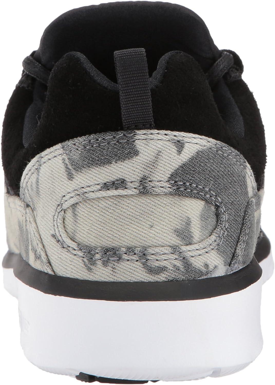 DC Shoes  Heathrow Se, Sneakers basses homme Black Destroy Wash