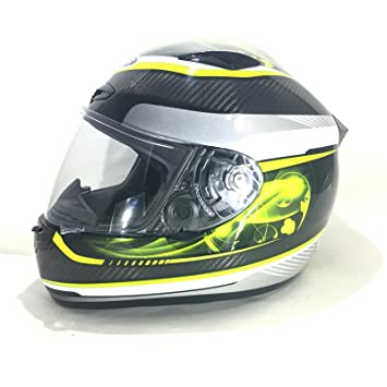 Racing cascos Viper RS-1010 de fibra de carbono carrera Touring Full Face casco amarillo