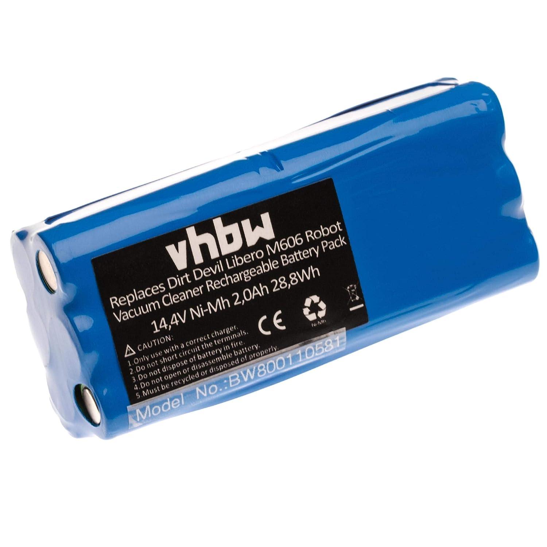 vhbw Batería NiMH 1500mAh (14.4V) para robot aspidador doméstico Dirt Devil Fusion M611, Libero, Puck M610, M610-1 como 0606004, 0607004.: Amazon.es: Hogar