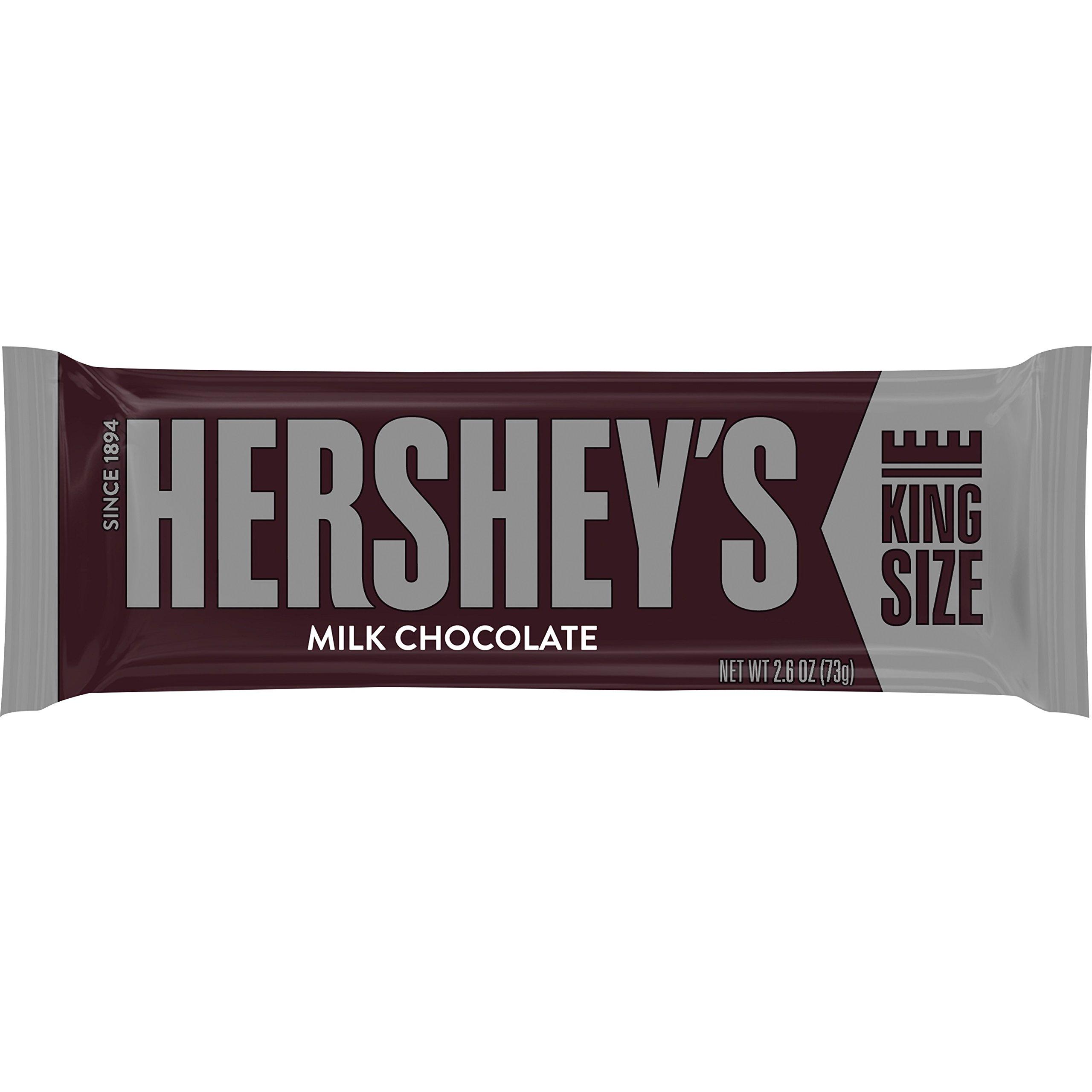 HERSHEY'S King Size Milk Chocolate Bar, 2.6 Ounce