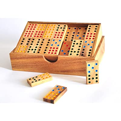 SiamCollection Domino Game Set Handmade Wooden: Toys & Games