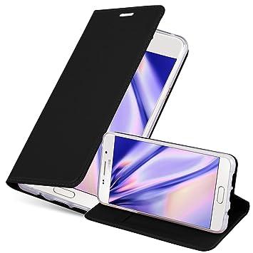 Cadorabo Funda Libro para Samsung Galaxy A3 2016 en Classy Negro ...
