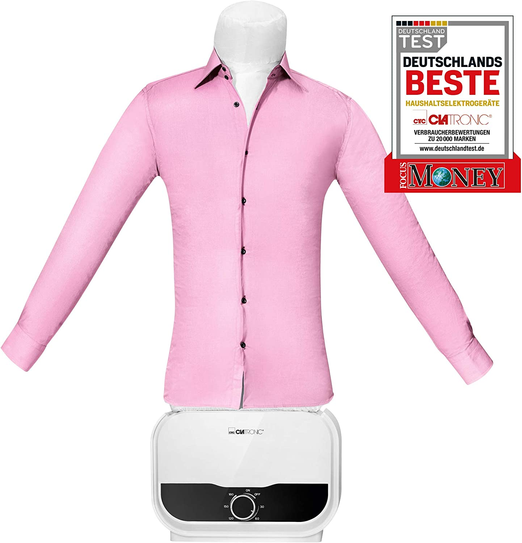 Clatronic HBB 3734 - Percha para camisas, blusas y pantalones, función 2 en 1, secado y planchado en un paso, temporizador de 180 minutos, 1200 W, cuerpo de globo de talla única (XS-S-M-L-XL-XXL)