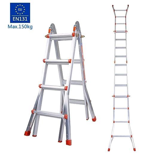 swteeys - Escalera 3 Peldaños Escalera de 4 peldaños aluminio ...