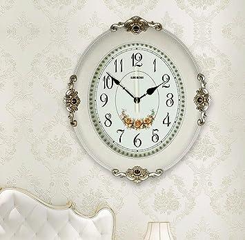 Amazon.de: YHJ Wanduhr Einfache Moderne Wanduhr Stumm Wohnzimmer Uhr ...