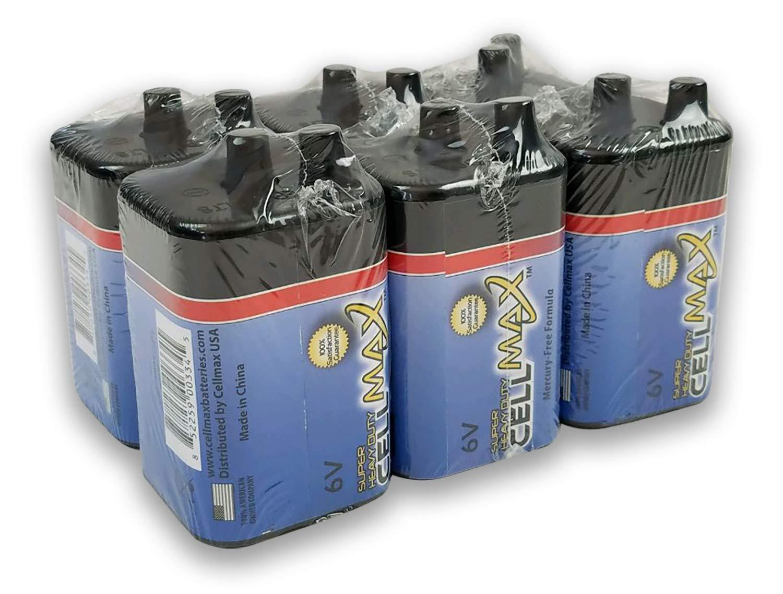 CellMax CM-4R25-SP1 - (6) Lantern Super Heavy Duty 6-Volt Batteries (6, 1-Packs) by CellMax