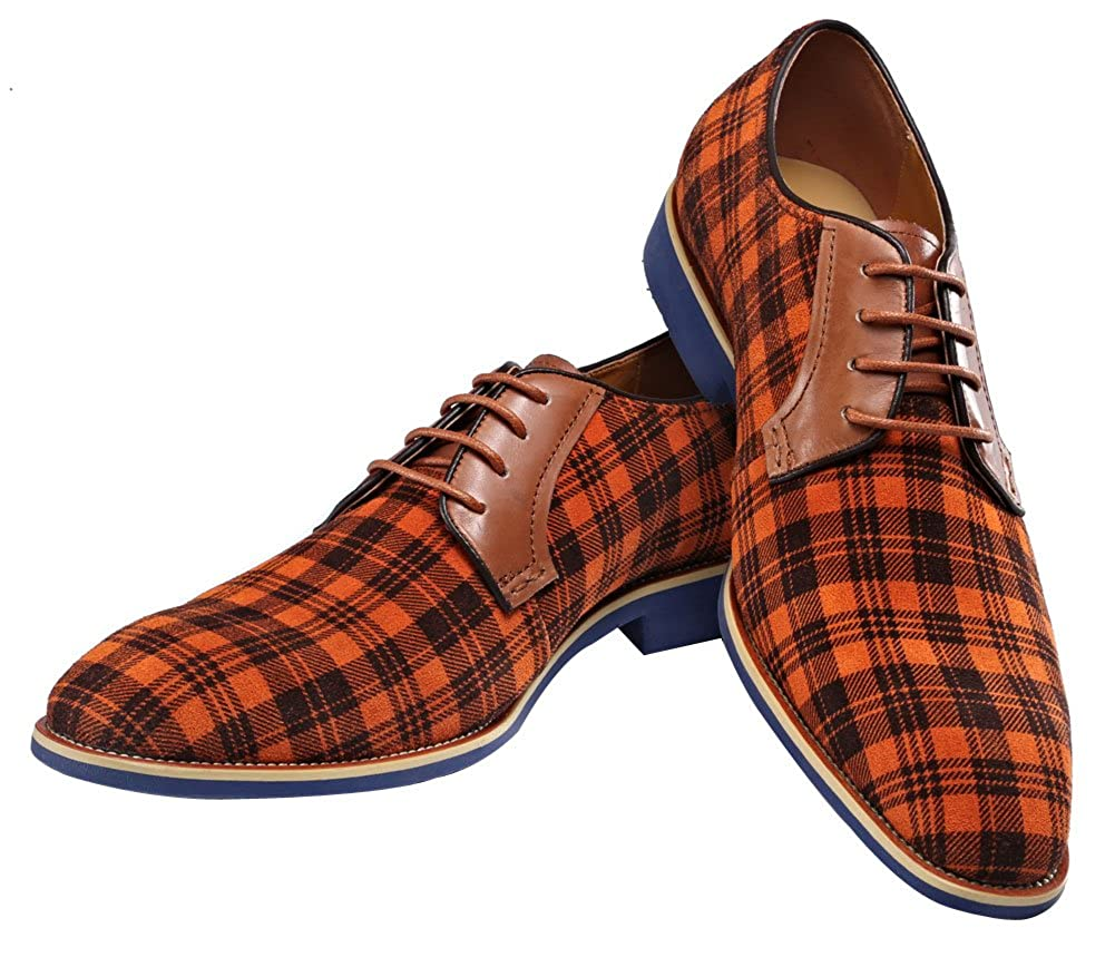 Oxford Brown Leather Shoe Dress Shoe Lace-up