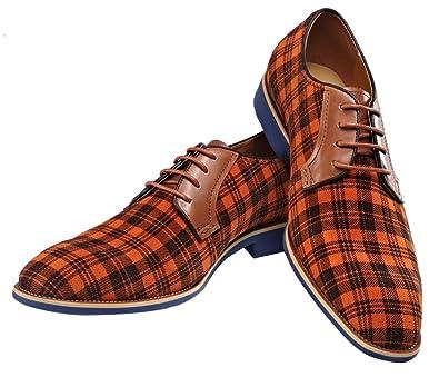 Amazon.com: Oxford Zapato de piel color café vestido zapato ...