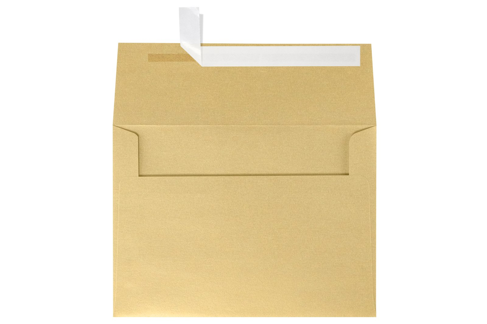 A7 Invitation Envelopes (5.25 x 7.25) - Blonde Light Gold Metallic (50 Qty.)   Fits 5 x 7 Photos  