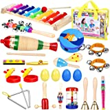 iBaseToy Toddler Instruments, Toddler Musical Instrument Set Kids Instruments for Kids Preschool Education, 16 Types…