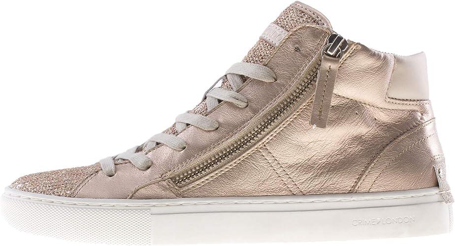 Crime London Sneakers Alte Donna Oro, 38, Platino: Amazon.it