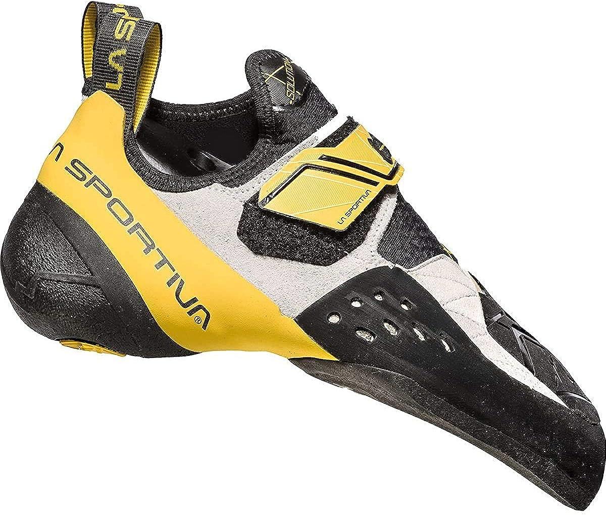LA SPORTIVA Solution White/Yellow, Zapatillas de Escalada, 37.5 EU