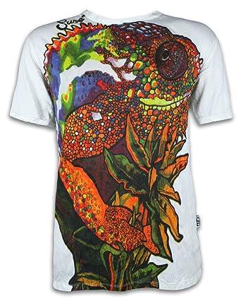 Sure T-Shirt da Uomo - Camaleonte Psichedelica Taglia M L XL ...