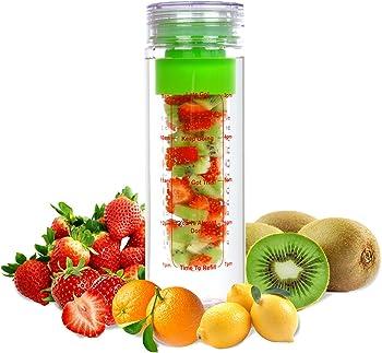 LA Organics 24 Oz. Fruit Infuser Water Bottle