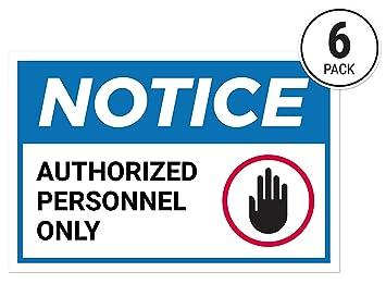 Amazon.com: Signos adhesivos para el personal autorizado ...
