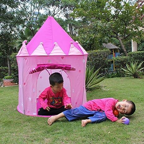 UNAKIM-Portable Pink Fairy Princess Castle Play Tent House Children Kids Outdoor Indoor & Amazon.com: UNAKIM-Portable Pink Fairy Princess Castle Play Tent ...