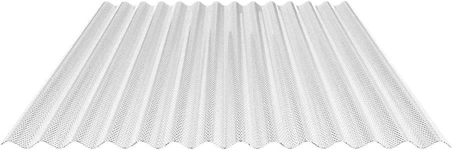 Placa de luz ondulada, perfil 76/18, material PVC, ancho de 1030 mm, grosor de 2,5 mm, color transparente y estructura de panal: Amazon.es: Bricolaje y herramientas