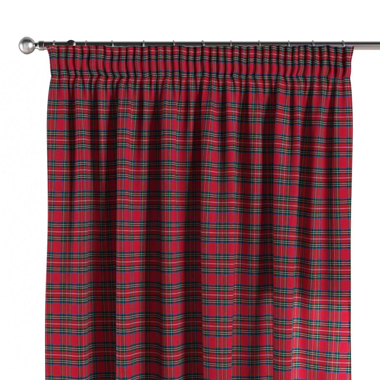 Dekoria Vorhang mit Kräuselband Dekoschal Blickdicht 1 Stck. 130 × 260 cm rot-grün Maßanfertigung möglich