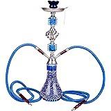 DXP Shisha 2 Sortie Tuyau Ou Tube 28 Cm Chicha Hookah Narguile Vase Fumeurs Bleu