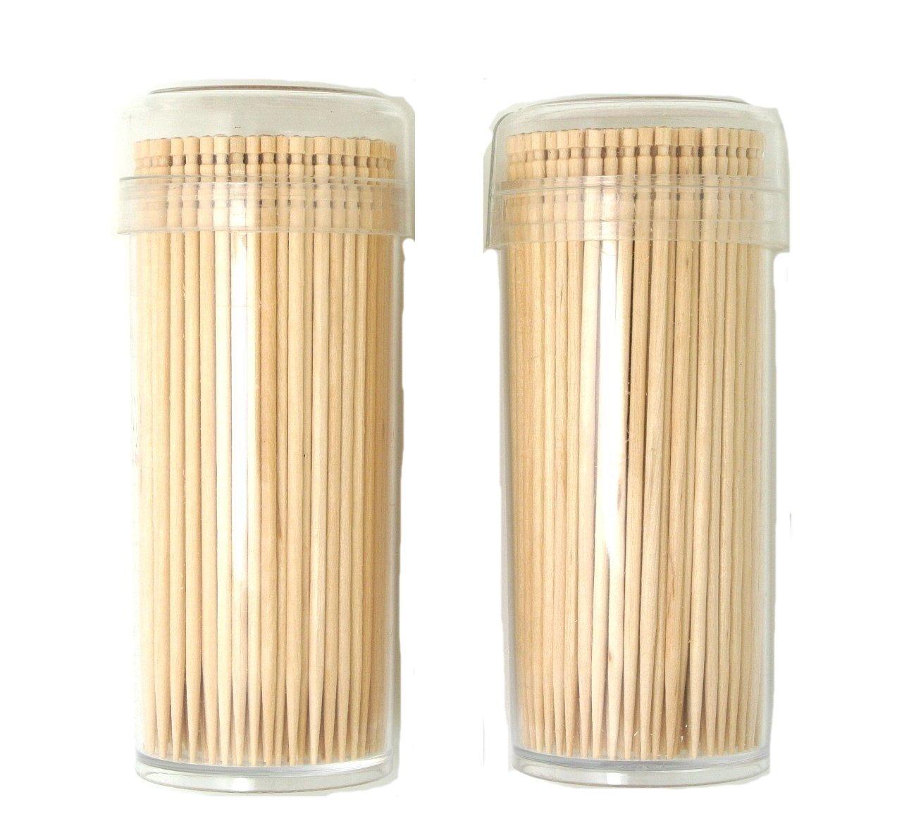 """Gmark Premium 4"""" Kokeshi Toothpicks Skewers 500ct (2 Packs of 250) GM1034"""