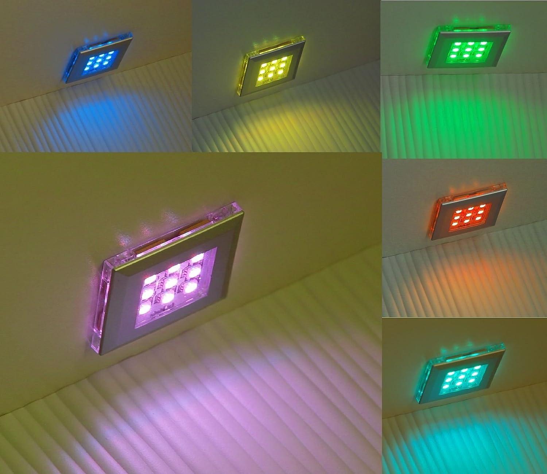RGB LED Unterbauleuchten   Art. 2118-2   2-er Set mit Trafo Steuerung und Fernbedienung   Lichtfarbe Rot Grün Blau   Vitrinenbeleuchtung   Möbelbeleuchtung   Regalbeleuchtung