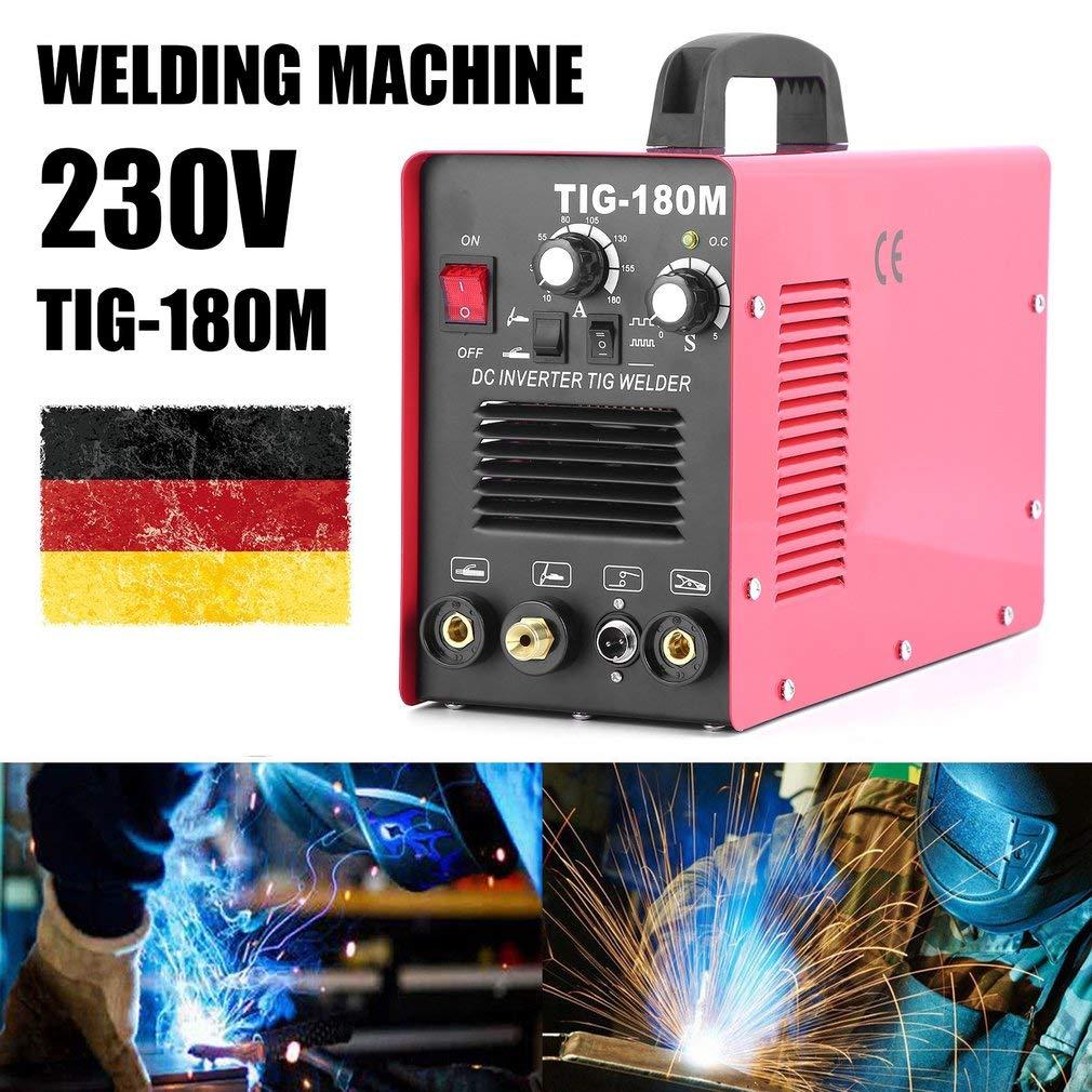 Hehilark WIG Argon Arc - Máquina de soldadura (200 A, IGBT, Inverter TIG MMA DC E-Hand HF, 220 V), Rojo: Amazon.es: Bricolaje y herramientas