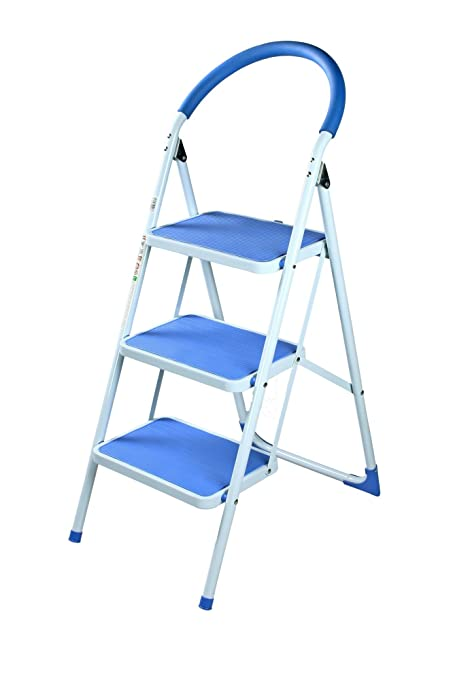 Ozone OHZ-LAD-KT03-BL 3 Step Kitchen Ladder (Blue and White) Amazon.in Home Improvement  sc 1 st  Amazon.in : bq step stool - islam-shia.org