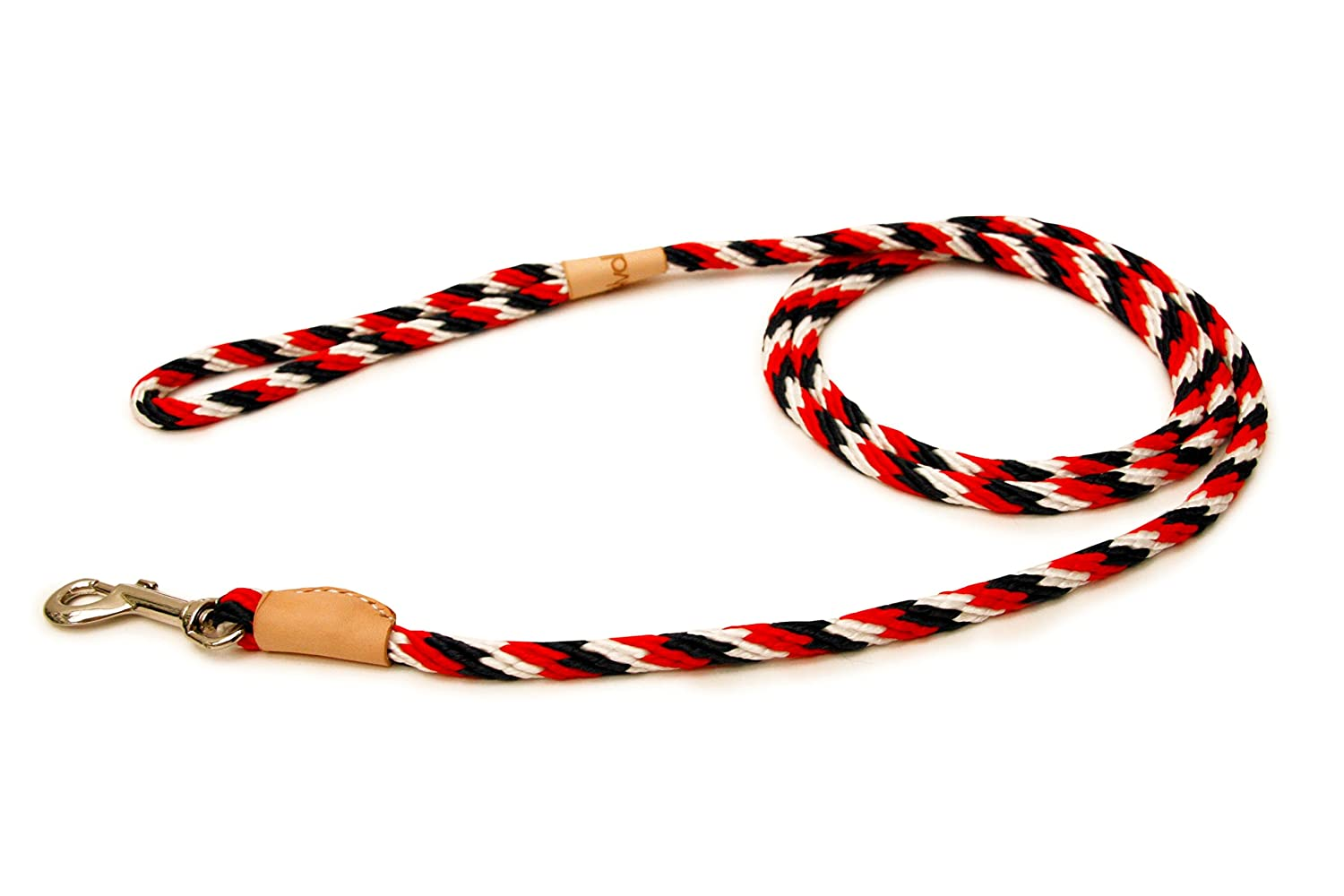 Red White Dark bluee Alvalley Red White Dark bluee Sport Snap Lead for Dogs Made of Strong Multifilament Polypropylene Rope (8mm X 183cm or 5 16 in X 6ft)