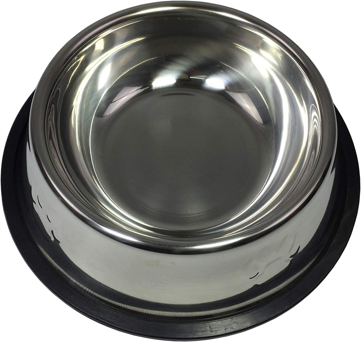 FixtureDisplays 16-oz Dog/Cat Bowl Stainless Steel Dog Pet Food or Water Bowl Dish 12195 12195