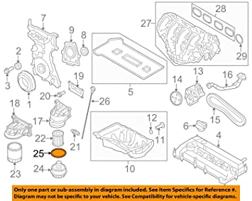 Ford 1S7Z-6885-AA GASKET OIL FILTER