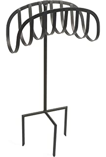 Elegant Liberty Garden Products 647 Manger Style Metal Garden Hose Stand, Holds  125 Feet Of