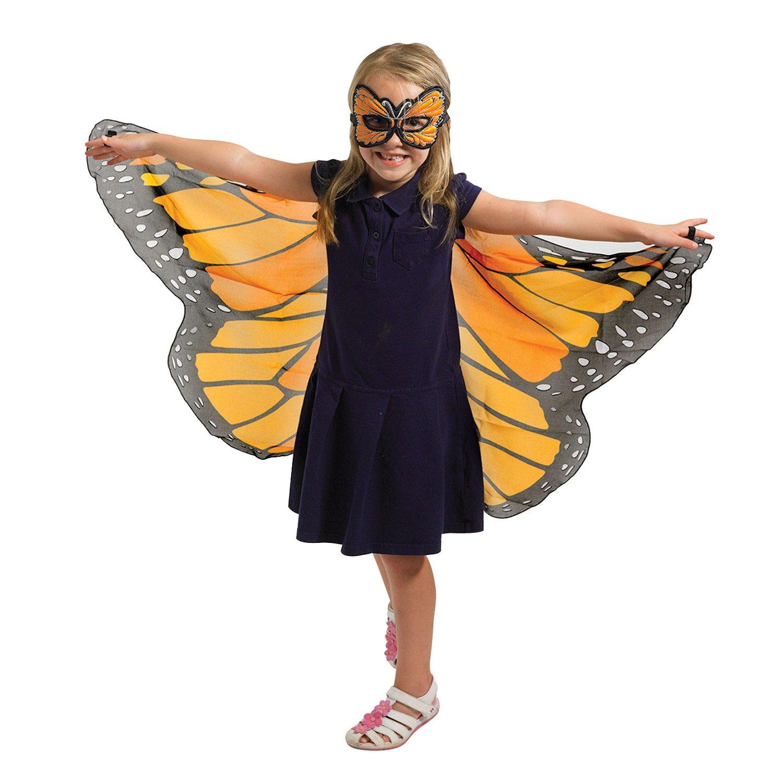 Douglas Cuddle Orange Monarch Butterfly Wings and Mask Bundle Set Douglas Cuddle Toys