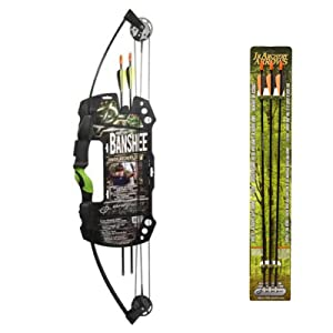 Barnett Outdoors Team Realtree Banshee Quad Junior Compound Bow Archery Set